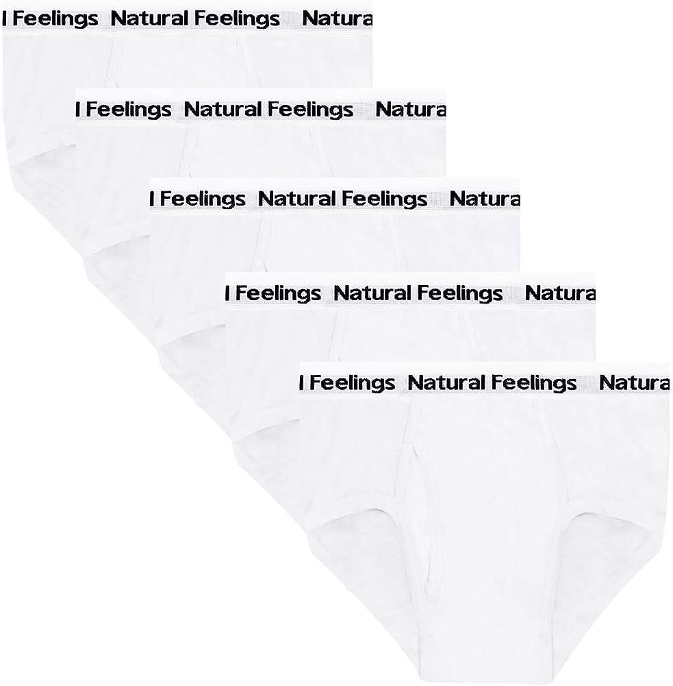 Natural Feelings Mens Briefs Underwear Mens Cotton Classics Briefs Full Rise Mens Underwear Briefs Pack
