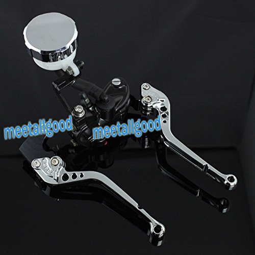 GZYF New Silver Front Master Cylinder Brake Clutch Levers Fit Honda 03-06 CBR 600RR
