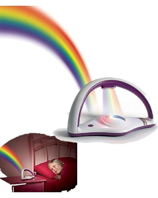 Vari Lámpara Noche, proyector luz Arcoíris con Cristal * 20647 ...