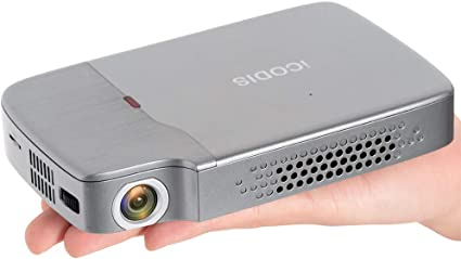 iCODIS RD-818 Mini Projector, DLP Support 1080P, 200 ANSI lm Perfect for Entertainment Business, Portable Size & 120