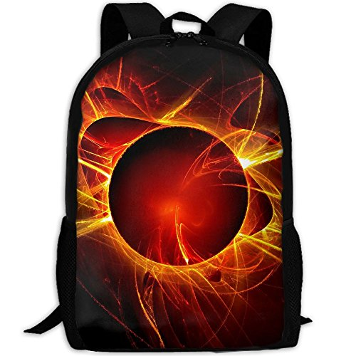 3D Magic Eclipse Logo Unisex Backpack Lightweight Laptop Bags Shoulder Bag School Bookbag (Eclipse Oxford Shoes)