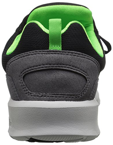 Dc Mens Heathrow Scarpa Da Skate Casual Nera / Grigio / Verde