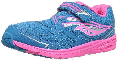 Saucony Baby Girls Ride Running Shoe, Blue/Pink, 8 Medium US Toddler