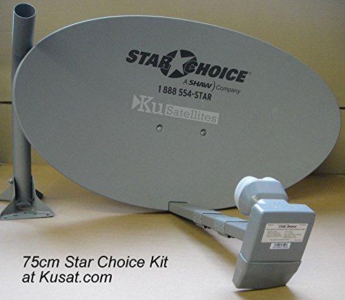 Shaw Direct 75E (37') 75cm Satellite Dish Kit With Xku LNBF 75cm xKU