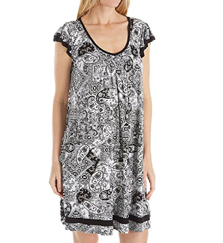 - ELLEN TRACY Yours to Love Short Sleeve Chemise (8015331) 2X/Paisley