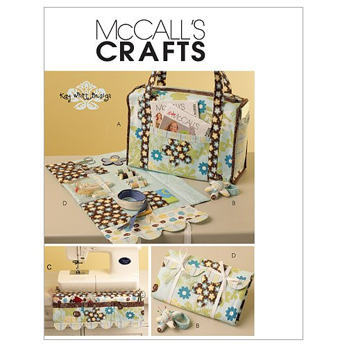McCall's Patterns M5871 Project Tote, Organizer, Pin Cushion and Machine Apron, One Size Only
