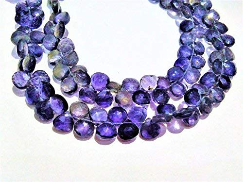 - Iolite 6.5-7mm Faceted Heart Shape Beads, Loose Strand, Iolite Gemstone Necklace Jewelry 8
