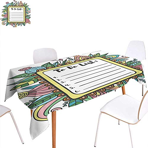 longbuyer Outdoor Picnics Printable to Do List Page Fun Summer Doodle Frame Rectangle/Oblong W 50