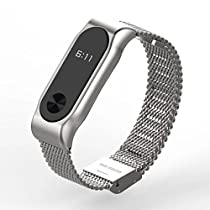 Stainless Steel Watch Strap for Xiaomi Miband 2 - SILVER