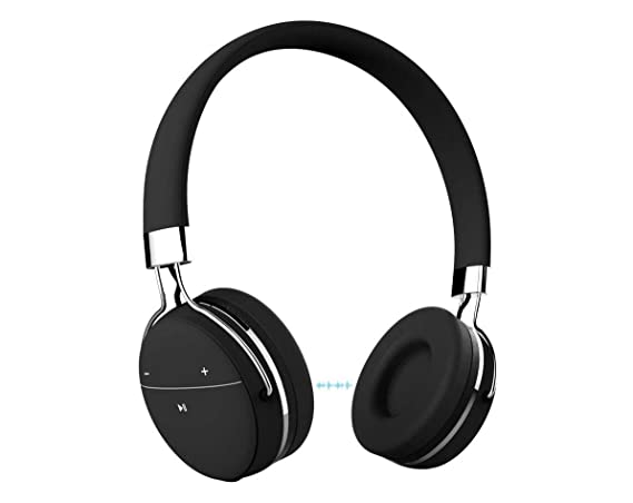 Portronics POR 645 Muffs Pro Wireless Bluetooth Headphone with AUX Port  Black