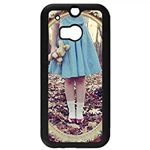 Alice In Wonderland Through The Looking Glass Phone Case Hard Plastic Case Cover For Htc One M8,Alice in Wonderland Durable Cellphone Case(Black)
