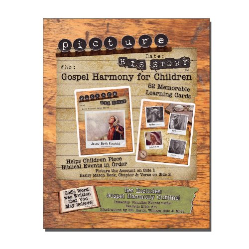 Gospel Harmony for Children: Picture His Story Bible Flashcards with Book, Chapter, and Verse Quick Reference