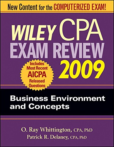 Wiley CPA Exam Review 2009: Business Environment and Concepts (WILEY CPA EXAMINATION REVIEW)