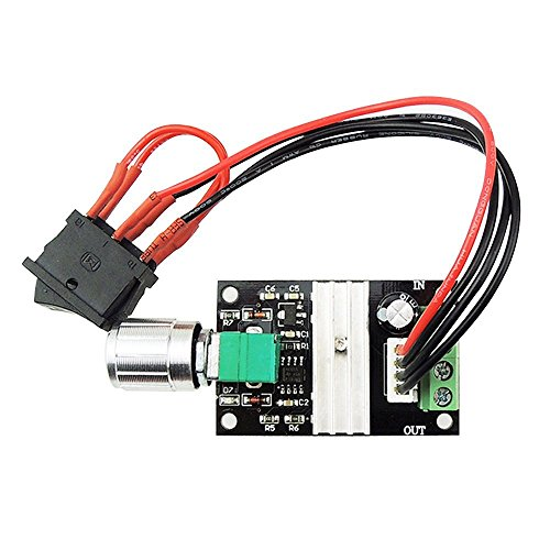 Onyehn 6V 12V 24V 28V 3A 80W DC Motor Speed Controller PWM Speed Adjustable Reversible Switch 1203BB DC Motor Driver Reversing