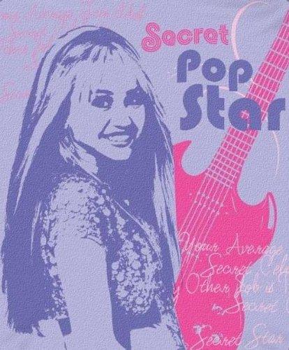 Hannah Montana Secret Pop Star Micro Raschel Throw (Montana Blanket Hannah)