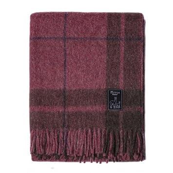 Steinbeck Couverture en laine marron Plaid laine d alpaga, laine vierge,  etc. 2f9fd3490ec