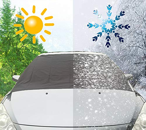 Amazon.es: Xuenisidan Coche Protector para Parabrisas, Antihielo y Nieve proteja Bien el Parabrisas del vehículode la Escarcha y la Nieve en Invierno (215 ...