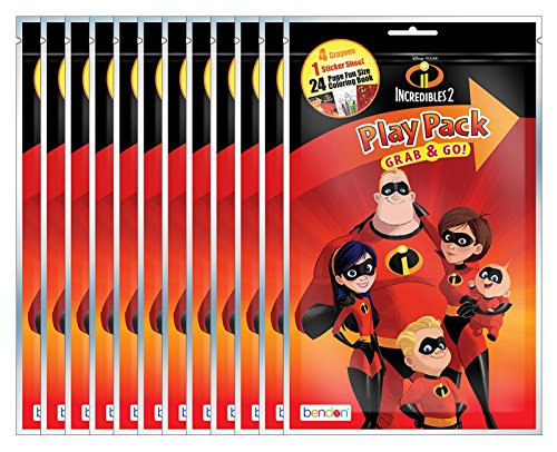 (Disney Pixar The Incredibles 2 Grab and Go Play Packs (Pack of)