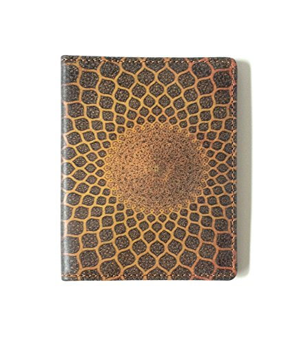 (Leather WALLET with TURKISH MOSAIC ART Gold Credit Card)