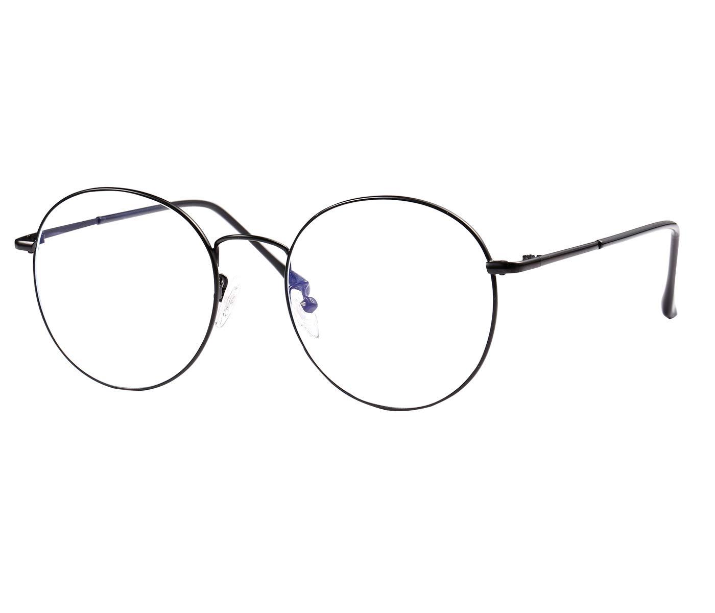 ROSA/&ROSE Antiriflesso Occhiali Luce Blu Bloccanti per il Blocco Della Cefalea UV Anti Eyestrain Occhiali Retr/ò con Lenti Trasparenti per Uomo Donna