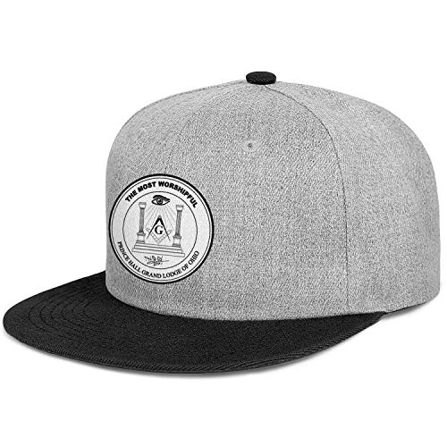 WJINX Prince Hall Grand Lodge of Ohio Unisex Fashion Flat Brim Cap Lightweight Adjustable Trucker Hat