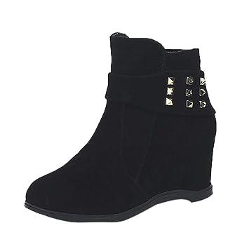 02d33da26e1 Amazon.com: SUKEQ Fashion Women Hidden Heel Wedge Ankle Boots High ...