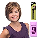 Deena by Estetica, Wig Galaxy Hair Loss Booklet & Magic Wig Styling Comb/Metal Pick Combo (Bundle - 3 Items), Color Chosen: R8-26H