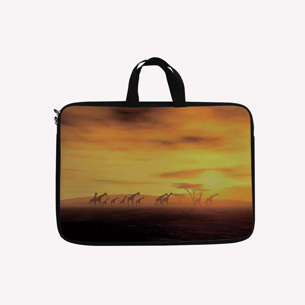 お手頃価格 3Dプリントダブルジッパーラップトップバッグ Clouds、Sunset B07KZ6HNC4 Sunlights Coloring Clouds Sky and マルチカラー Earth、25.4cmキャンバス防水ラップトップショルダーバッグ、適合機種: 9.7