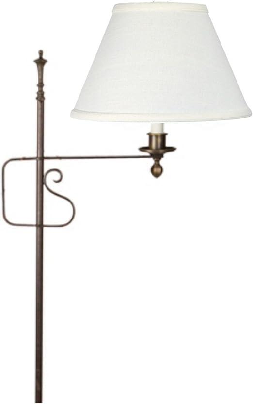 Upgradelights Lamp Shade Small Brass Clip On Lamp Shade 8 Inch Eggshell Silk 5x8x6