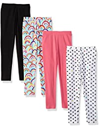 Girls' 4-Pack Leggings