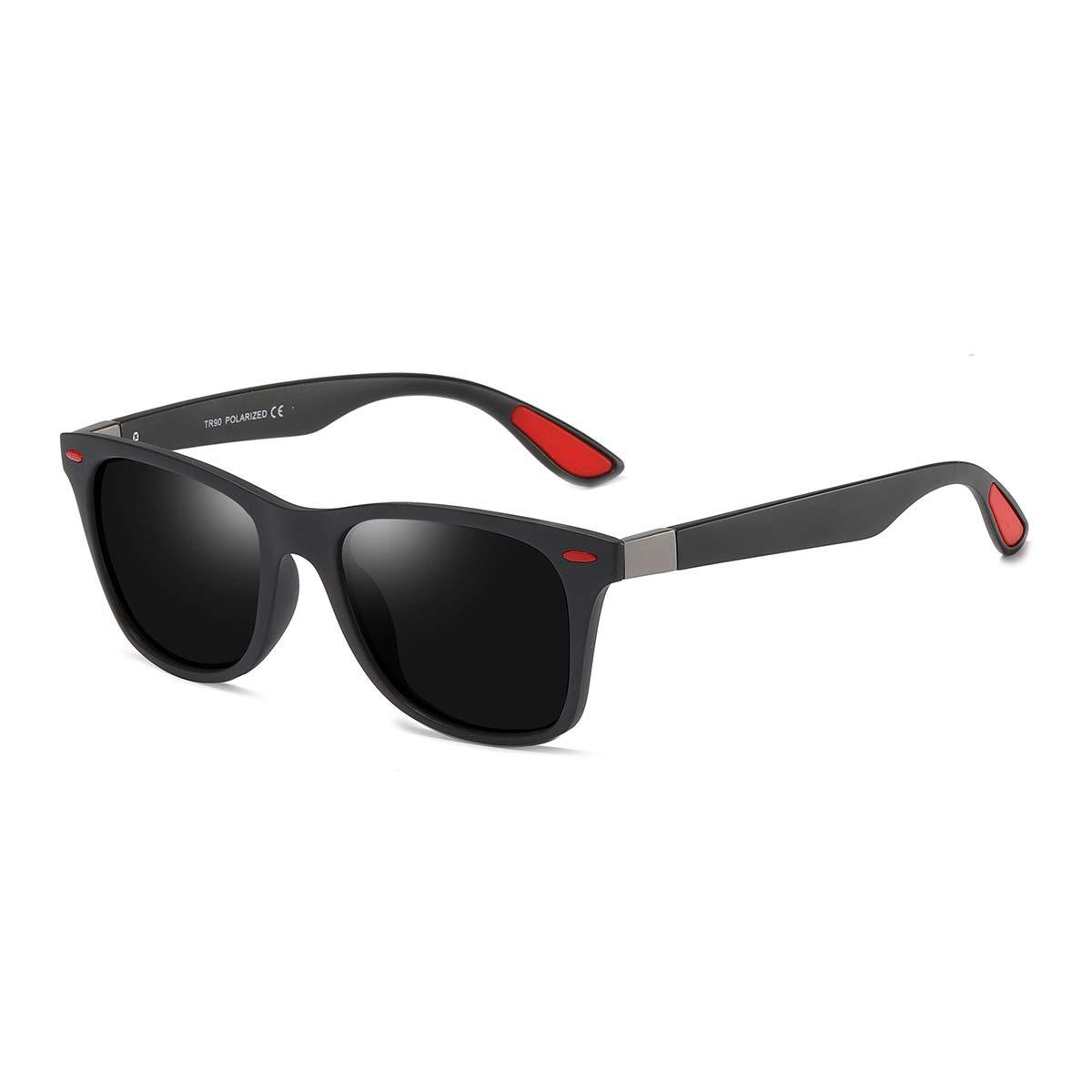 BLEVET Gafas de sol Polarizadas Clásico Retro Gafas para Hombre y Mujer BE007 (Black Frame Black Lens): Amazon.es: Ropa y accesorios