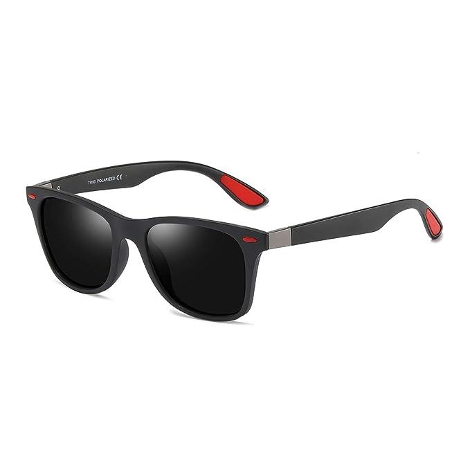 BLEVET Gafas de sol Polarizadas Clásico Retro Gafas para Hombre y Mujer BE007 (Black Frame