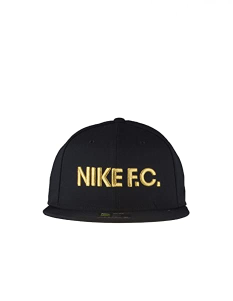 Nike U Nk FC True Classic Gorra, Hombre, Negro Black/Metallic Gold,
