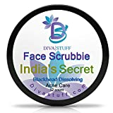 Diva Stuff Face Scrubbie India's Secret | Dissolves Blackheads, Whiteheads & Acne | Face Exfoliator with Turmeric, Lemongrass, Cinnamon, Baking Soda | Clears Pores & Controls Sebum