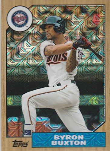 Silver Baseball Cards - 2017 Topps Baseball Silver Pack Continuity #87-BB Byron Buxton Minnesota Twins