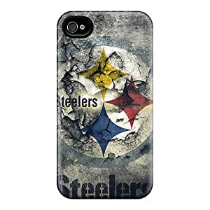 Protective Hard Phone Case For Iphone 4/4s With Provide Private Custom Colorful Pittsburgh Steelers Image ChristopherWalsh