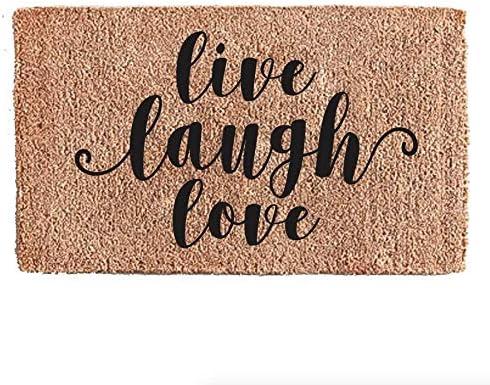 Flocked Coir Doormat – Greetings Live Love Laugh