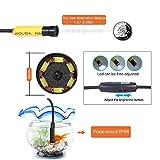 Kobwa Industrial Video Endoscope 20Meters, 4.3 Inch TFT-LCD Color LCD Montior 5V Mini AV Borescope Inspection Snake Cmaera with 10mm Diameter Waterproof Probe CMOS Camera