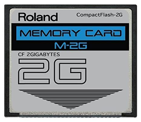 2GB Roland M-2G CompactFlash CF Memory Card SP-555, V-Synth, Fantom and more.