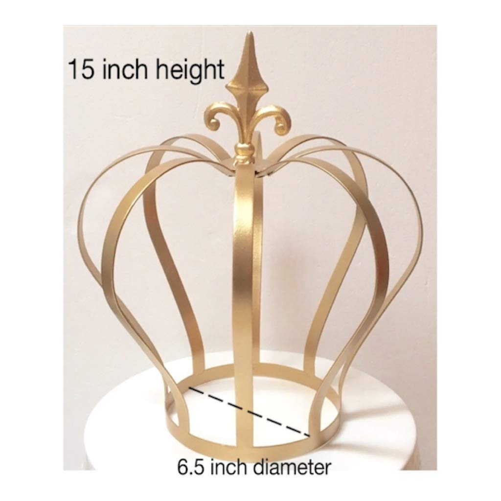15 inch Big Crown Centerpiece for Royal Themed Party (Gold)