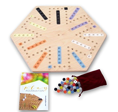 """Amish-Made 22"""" Wide Wooden Aggravation  Marble Game Board, D"""