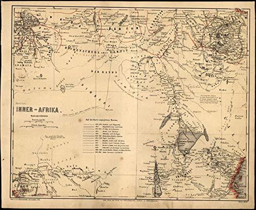 - Africa Lake Victoria Uganda Kenya Rwanda Burundi DRC c.1867 detailed German map