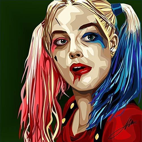 Pop Art Movie Quotes [Harley Quinn] Canvas Artwork Modern Wall Decor -