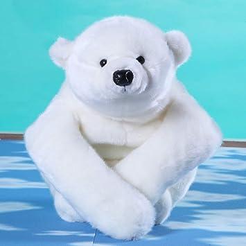 L&J Shaggy Juguete De Peluche Muñeco Oso Polar Adorable Peluches Almohada Regalo De San Valentín-