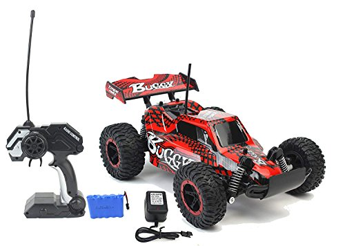 AJ Toys & Games Super Speed Racing Remote Control RC Slayer Red Buggy Toy Car with Working Suspension, Spring Shock Absorbents