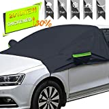 Windshield Snow Cover with Side Mirror Covers, Mirror Snow Covers Protects Windshield and Wipers from Weatherproof, Rain, Sun, Frost, Extra Large Size Fits for Most Vehicles, Cars Trucks Vans and SUV