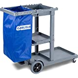 Carlisle JC1945L23 Polyethylene Long Platform Janitorial Cart, 300-Pound Capacity, 49-Inch Lengthx19-Inch Width 39-Inch Height, Gray