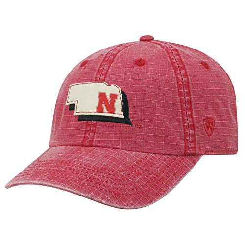 Top of the World Nebraska Cornhuskers Official NCAA Adjustable Stateline Cotton Hat Cap 456973 ()