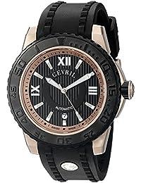 Seacloud Mens Swiss Automatic Black Rubber Strap Watch, (Model: 3115)
