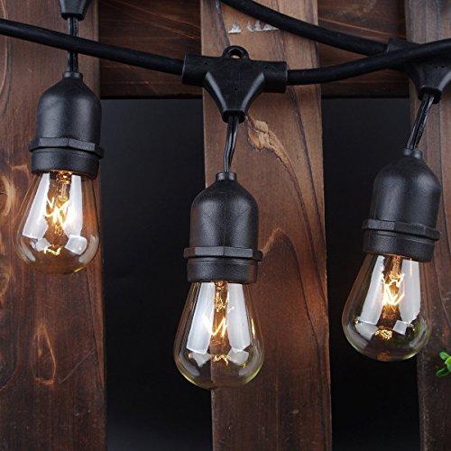 Outdoor String Lights 48ft, Zitrades S14...